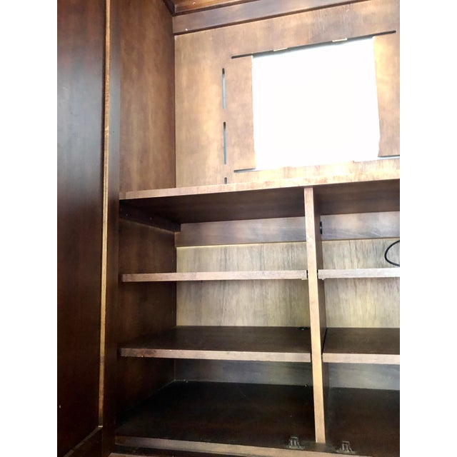Jim Peed for Romweber Rustic Hardwood Armoire For Sale - Image 9 of 13