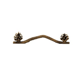 Lodgepole Cone Door Handle with Traditional Patina For Sale