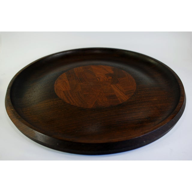 Mid-Century Modern Dansk Wenge & Teak Tray & Cheese Board For Sale - Image 3 of 7