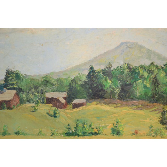 Framed Mountain Farm Landscape Painting For Sale In Richmond - Image 6 of 7