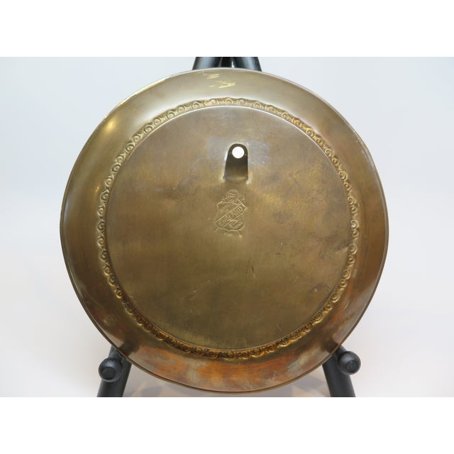 1930s Vintage Chinese Ship Decorative Brass Plate For Sale In Los Angeles - Image 6 of 7