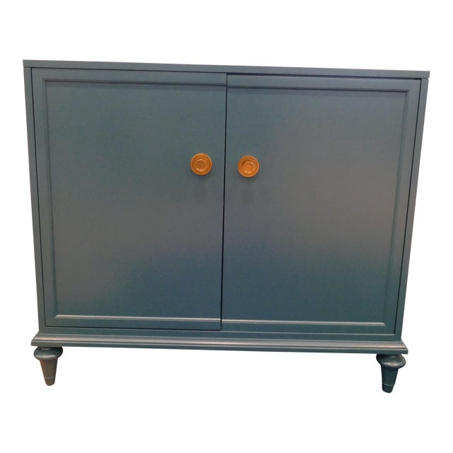 Tea Century Chest With Gold Hardware For Sale