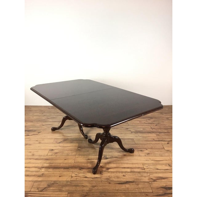 Mahogany Federal Style Mahogany Dining Table For Sale - Image 7 of 7