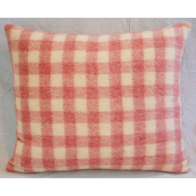 Scottish Plaid Wool & Velvet Down/Feather Pillow - Image 5 of 6