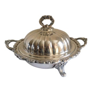 Beautiful Heavy Silverplate Covered Casserole Dish Poole Silver Co. For Sale
