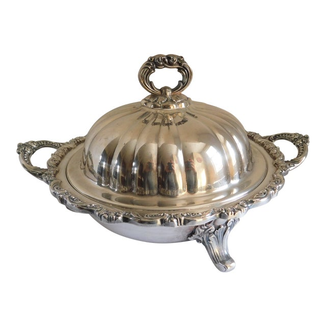 Poole Silver Co. Heavy Silverplate Casserole Dish For Sale