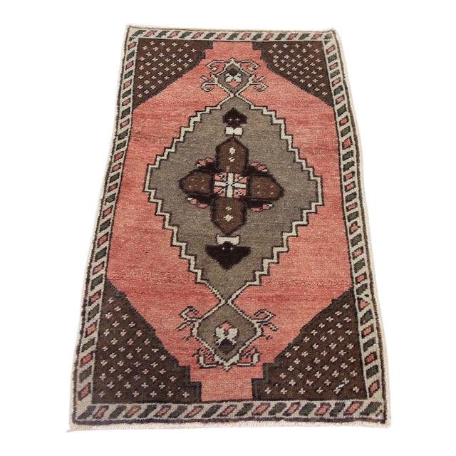 "Vintage Turkish Oushak Tribal Rug- 1'7"" x 2'10"" - Image 1 of 5"