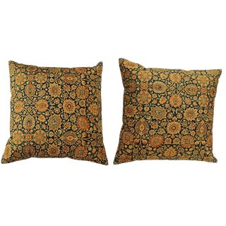 1990s Persian Accent Pillows - a Pair For Sale