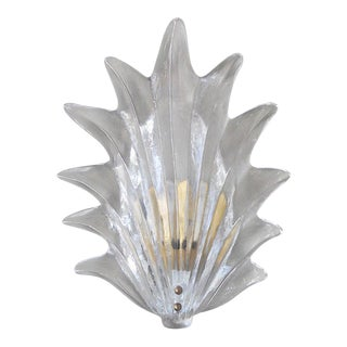 Mid 20th Century Vintage Art Deco Leaf Sconces by Barovier e Toso For Sale