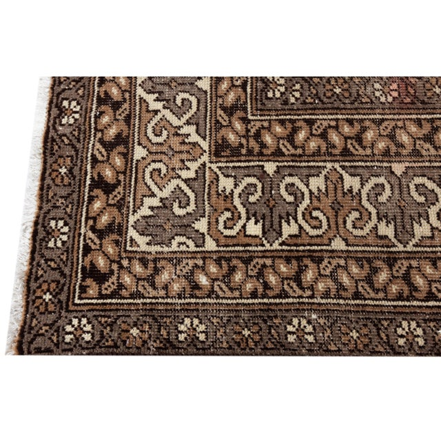 "Antique Mahal Rug, 9'6"" X 13'4"" For Sale - Image 4 of 10"