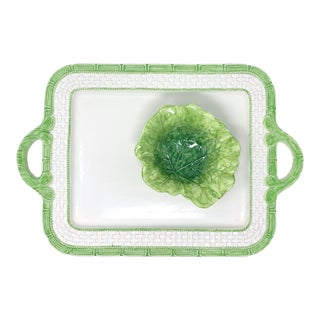 Cabbage Leaf Border Chip and Dip For Sale