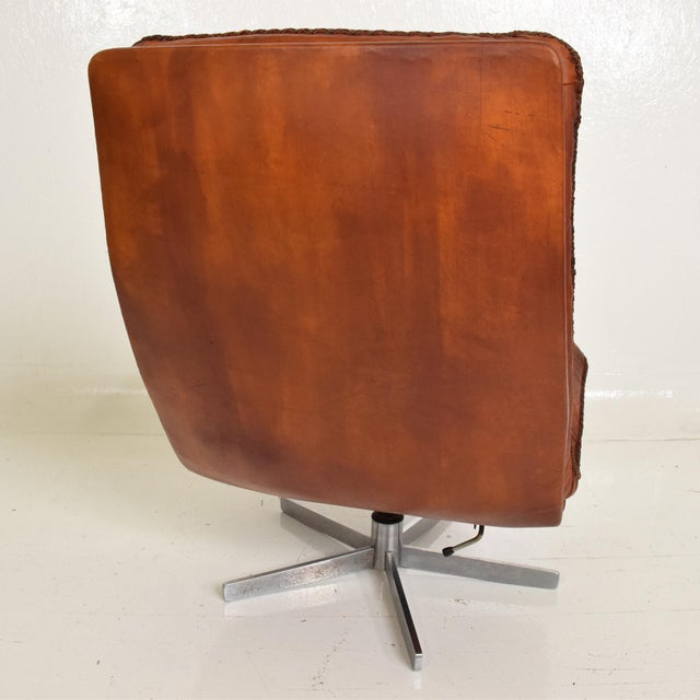 Mid-Century Modern Mid Century Modern Pair of James Bond Arm Chairs by De Sede, Model S 231 For Sale - Image 3 of 11
