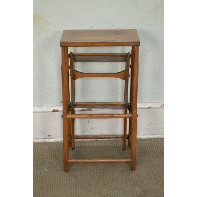 Late 19th Century Antique 19th Century Folding Stepping Stool For Sale - Image 5 of 13
