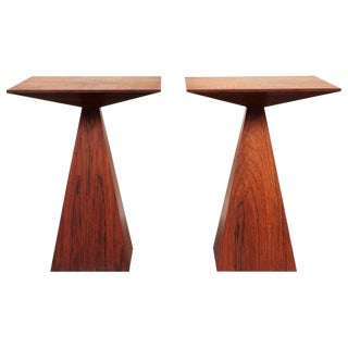 Wenge End Table by Harvey Probber Pair