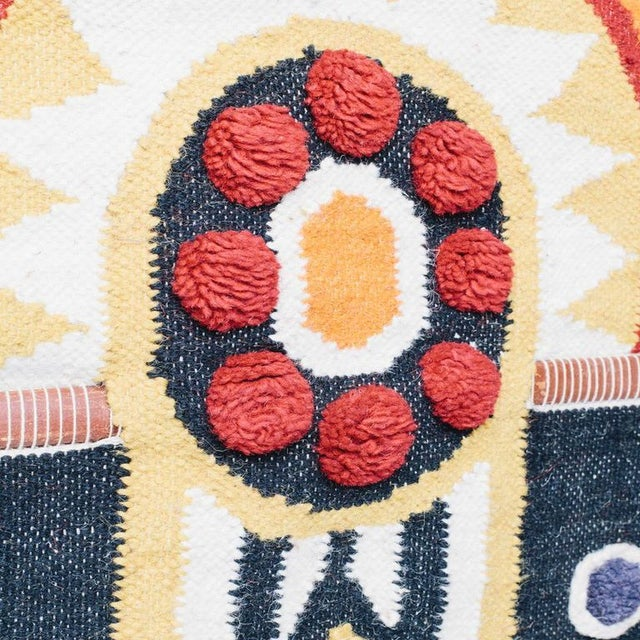 Modern Aztec Inspired Wool Wall Hanging For Sale - Image 3 of 4