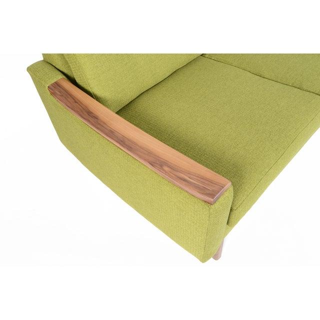 """Mid-Century Style """"Piedmont"""" Sofa in Avocado - Image 9 of 10"""