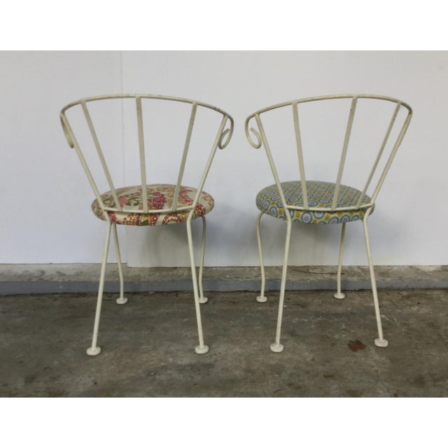 Mid-Century Painted Cast Iron Chairs - A Pair - Image 7 of 9
