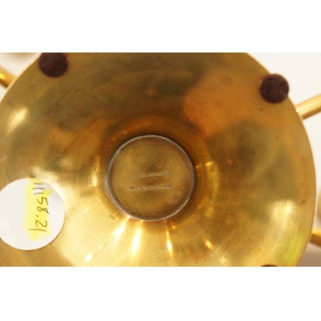 Pair Illums Bolighus Brass Candelabra - Image 6 of 10
