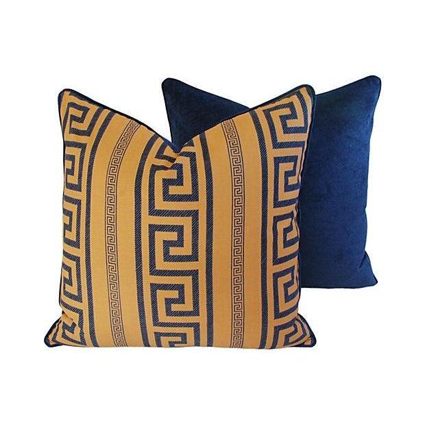 Designer Pierre Frey Greek Key Pillows - A Pair - Image 5 of 8