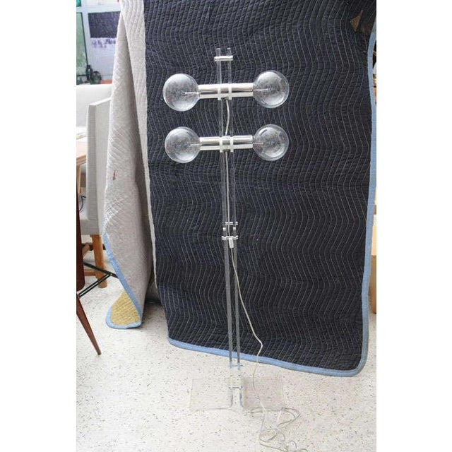 1960s Lucite Standing Lamp, Attributed to Charles Hollis Jones For Sale - Image 5 of 8