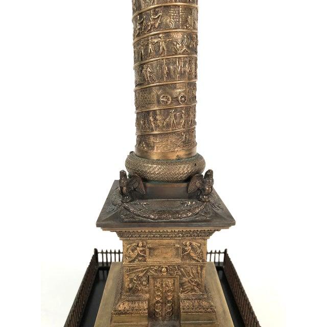 Large Grand Tour Gilt Bronze Model of the Place Vendome Napoleon Column in Paris For Sale - Image 10 of 13