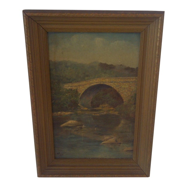 Schenley Bridge Original Painting 1938 For Sale