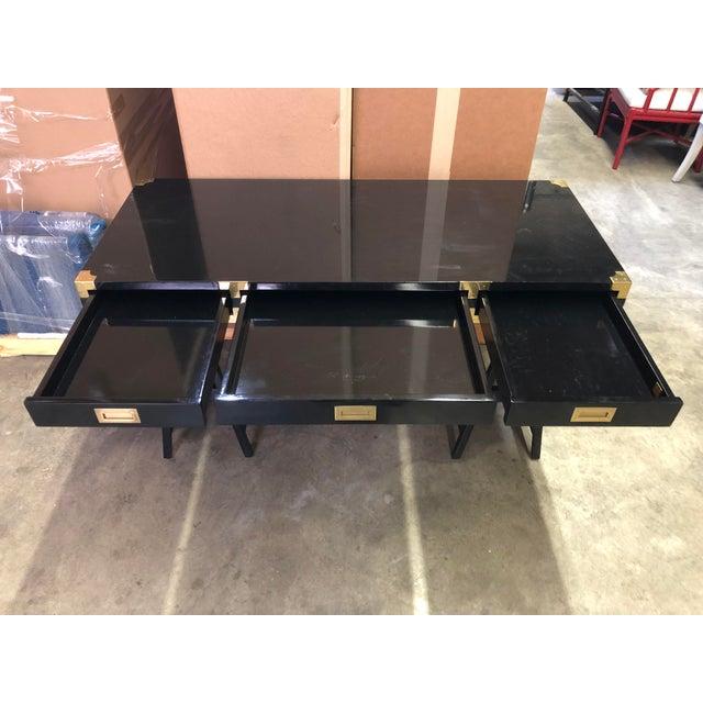Selamat Designs Chiba Black Lacquer Study Desk - Image 7 of 8