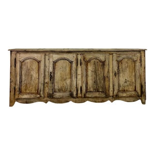 Mid 19th Century Rustic French Country Style Buffet For Sale