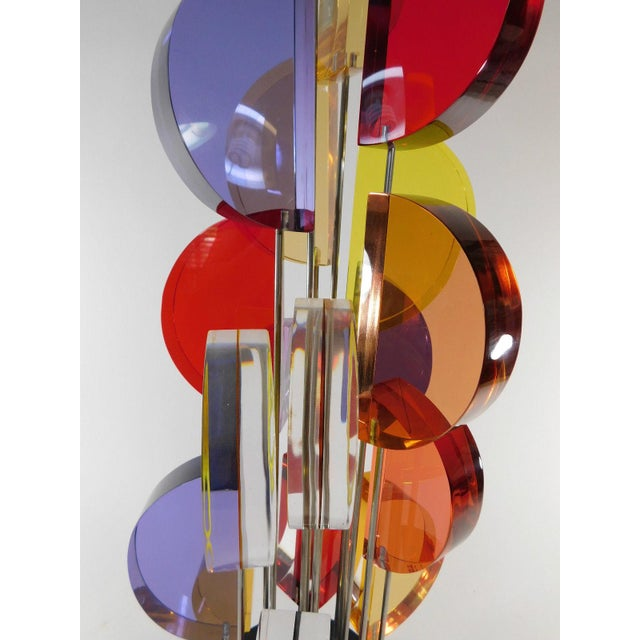 Michael George Sunburst Kinetic Lucite Sculpture - Image 5 of 10