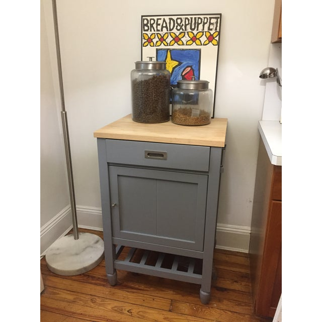 Crate Barrel Kitchen Island With Butcher Block