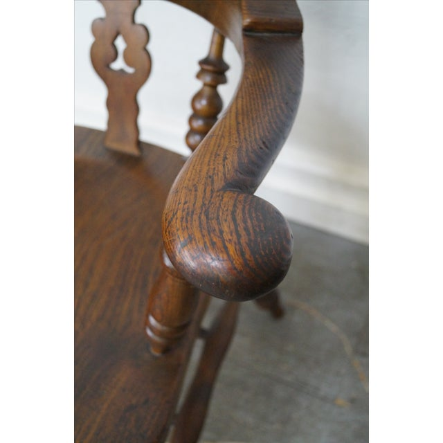 Antique 19th C. English Yew Wood Windsor Arm Chairs - Pair - Image 7 of 10