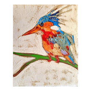 Kingfisher Oil Sketch on Canvas For Sale