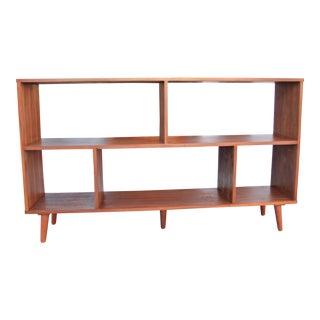 Mid-Century Style Walnut Bookcase
