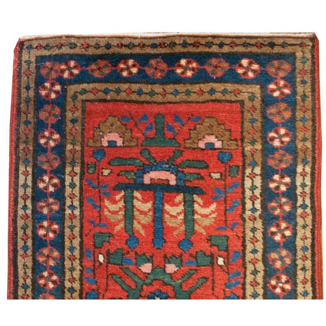 """Islamic Early 20th Century Heriz Runner - 24"""" x 112"""" For Sale - Image 3 of 5"""