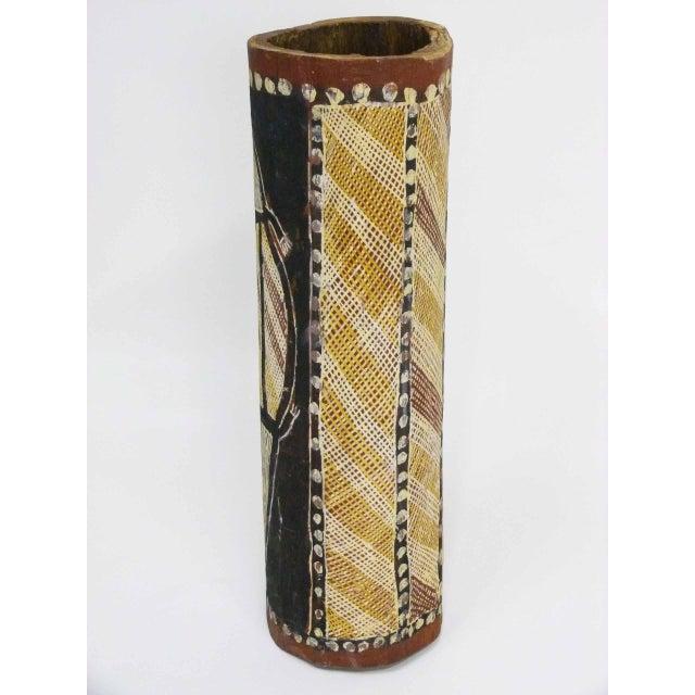 Arnhem Land Painted Aboriginal Hollow Log For Sale - Image 4 of 5