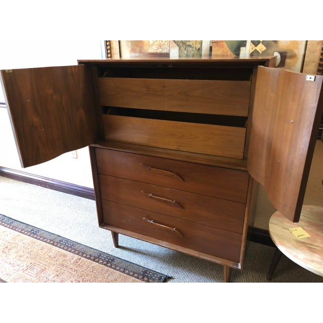 Wood 1950s Mid-Century Modern Highboy For Sale - Image 7 of 13