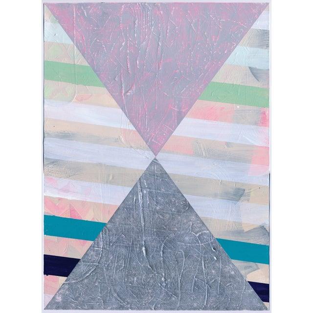 NY15 #17 Original Geometric Painting - Image 1 of 6
