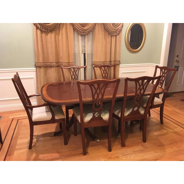 2000 - 2009 Traditional Ethan Allen Dining Set - 7 Pieces For Sale - Image 5 of 5