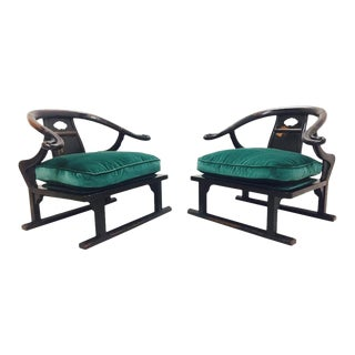 Ming Style Lounge Chairs by James Mont - a Pair For Sale