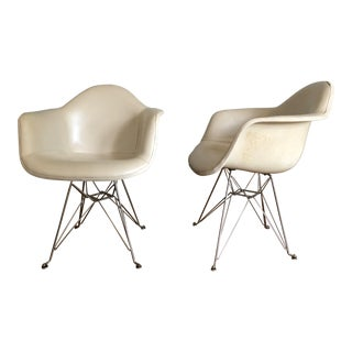 1950s Vintage Fiberglass Eames Bucket Chairs- a Pair For Sale