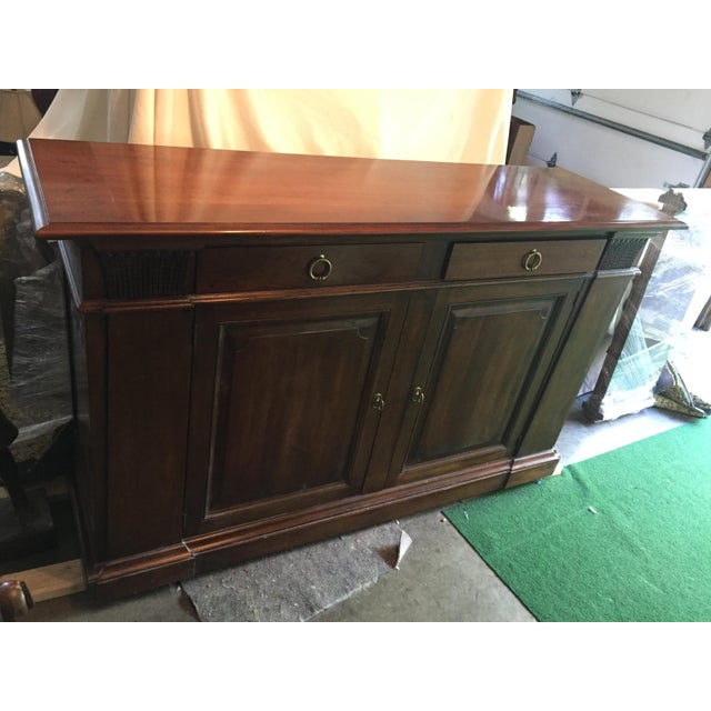 Henredon Walnut Buffet ,Console or Cabinet For Sale - Image 10 of 10