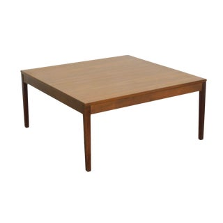 """George Nelson for Herman Miller 32"""" Square Walnut Coffee Table For Sale"""