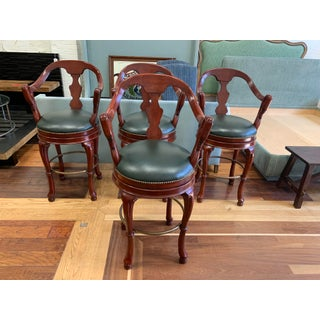 Imports Carved Wood Barstool Swivel Stools Preview