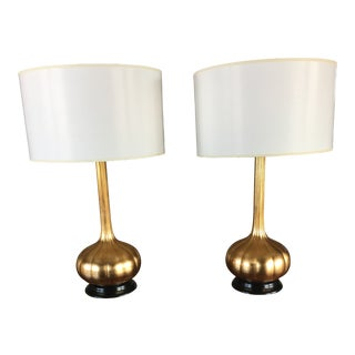 Currey & Company Modern Lamps - a Pair For Sale