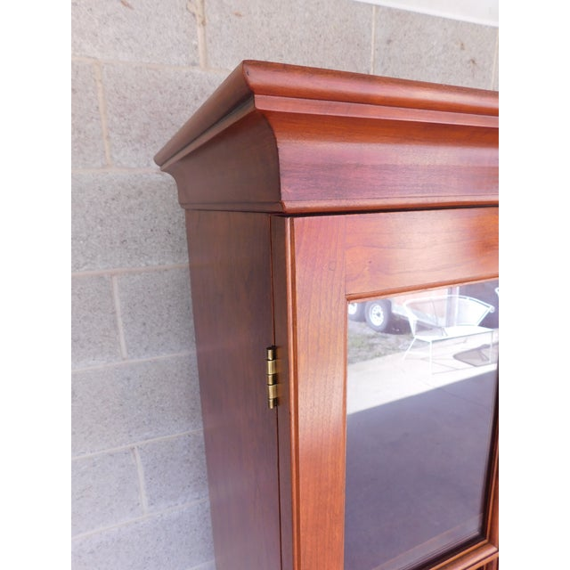 """Stickley Colonial Williamsburg Cherry Chippendale Style 2 Door Bookcase """"A"""" For Sale - Image 9 of 13"""