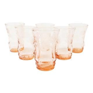 Vintage Blush Pink Shot Glasses - Set of 6