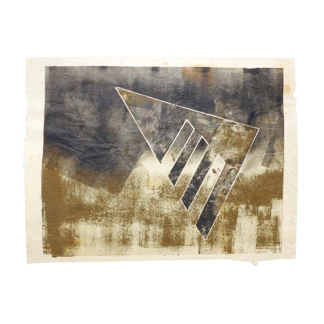 Black and Gold Mono Print by Martha Holden - Image 1 of 3