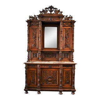 19th Century Antique Victorian Continental China Cabinet For Sale