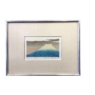 Kunio Kaneko Japanese Woodblock Print Fuji
