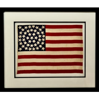 Antique 45 Star American Flag W/ Star Pattern For Sale